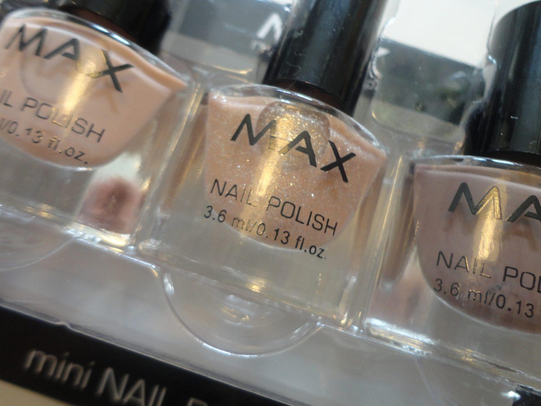 Swatches: Max mini nail polish set