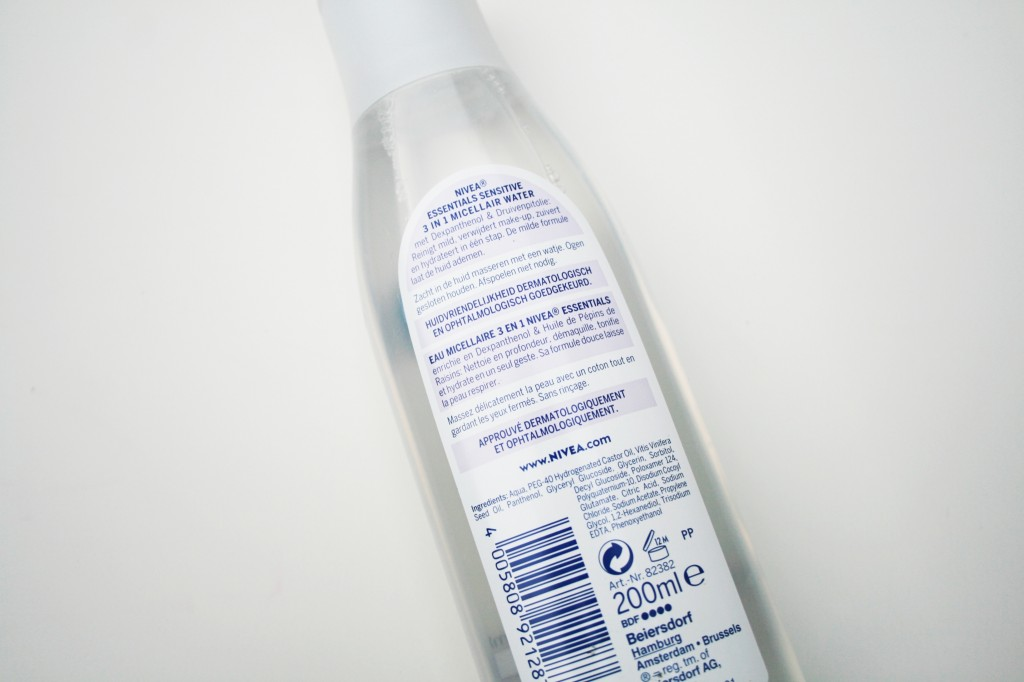 Nivea Sensitive Micellair Water ingrediënten