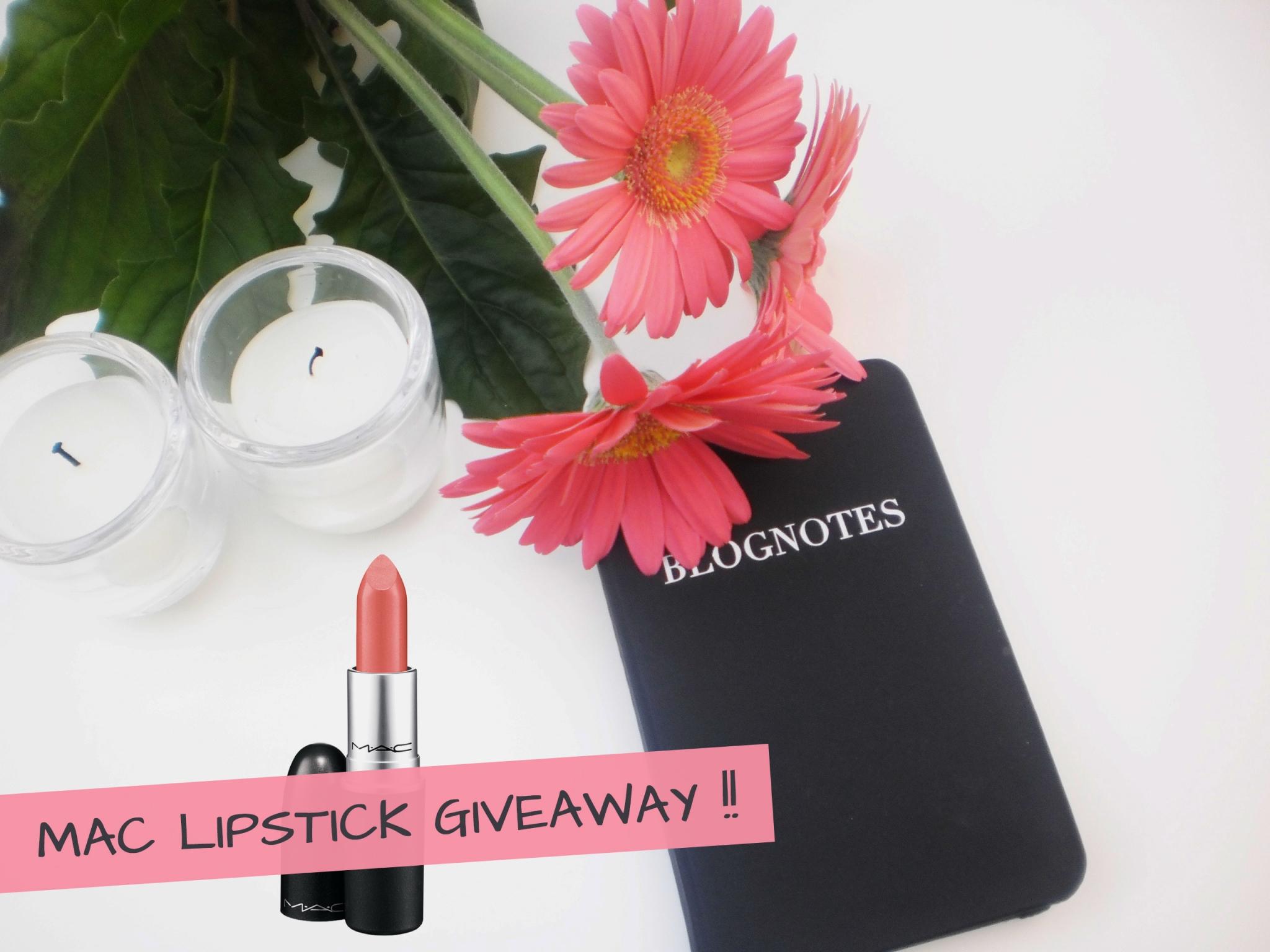 Reminder: Win een Mac Lipstick naar keuze!