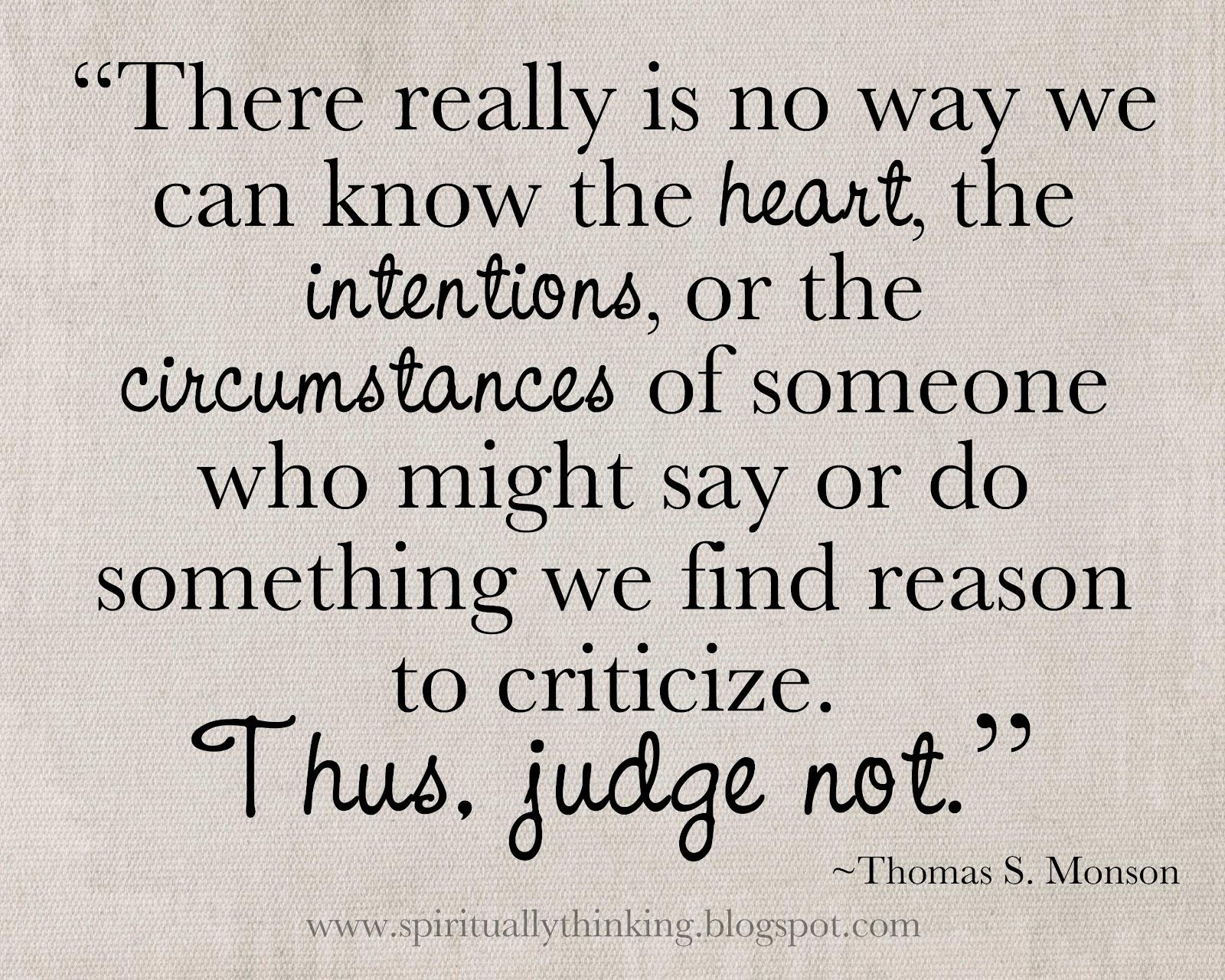 Oordelen over anderen..