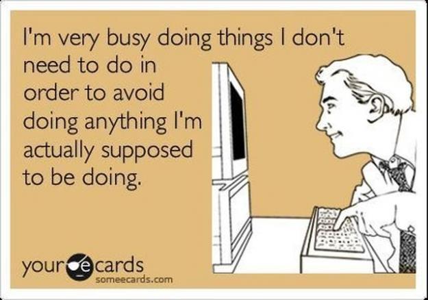 Dingen die ik zo lang mogelijk uitstel!