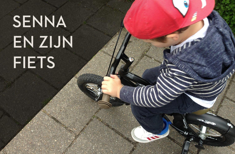 Senna en zijn fiets!