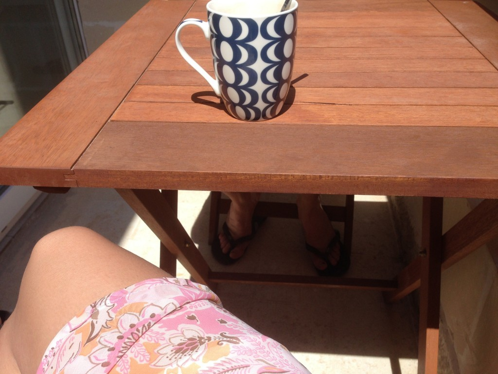 koffie balkon
