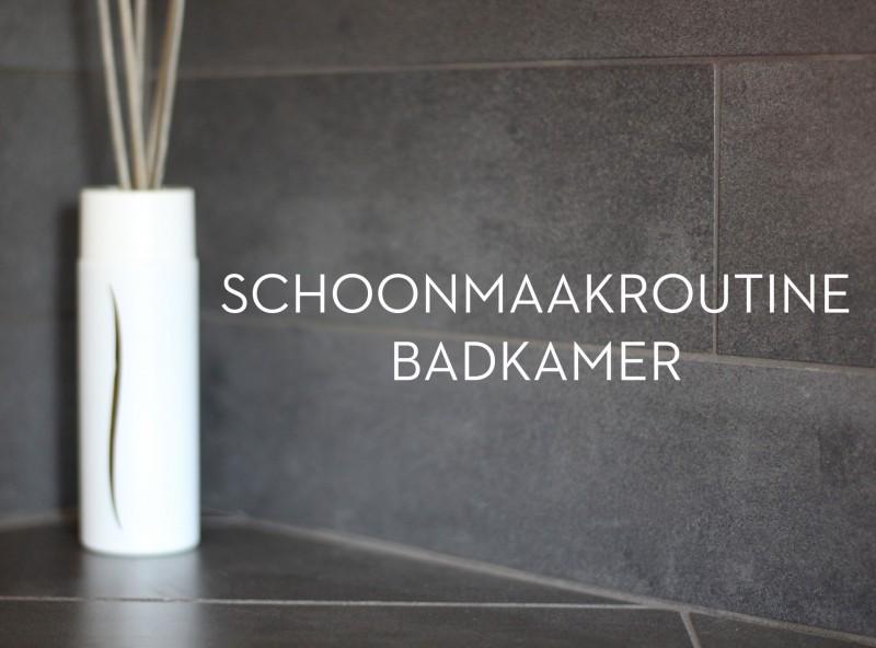 Schoonmaakroutine: Kalkvrij houden badkamer