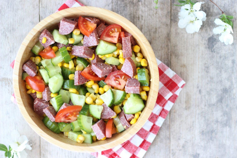 Recept: Snelle Salade met Salami (succes voor de kids!)