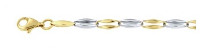 goud en zilver armband